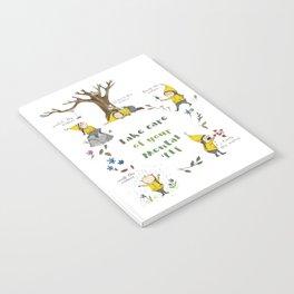 Take Care of your Mental 'Elf - nature illustration Notebook