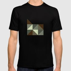 Geometric Oregon Mens Fitted Tee LARGE Black