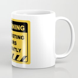Funny Human Warning Label / Sign CROP DUSTING OCCURS FREQUENTLY Sayings Sarcasm Humor Quotes Coffee Mug