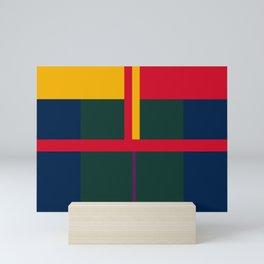 vintage, pattern, primary, colors, Mini Art Print