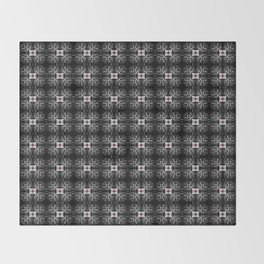 Spider Pipes in Black, Red, and White Throw Blanket