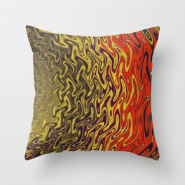 Ripples in Indian Summer Throw Pillow