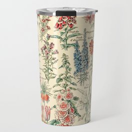 Vintage Floral Drawings // Fleurs by Adolphe Millot XL 19th Century Science Textbook Artwork Travel Mug