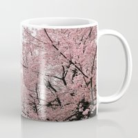 cherry blossoms Mugs featuring cherry blossoms by 2sweet4words Designs