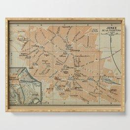 Vintage Jerez Spain Map (1913) Serving Tray