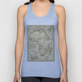 Vintage Map of Africa (1828) Unisex Tank Top