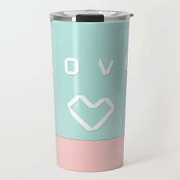 Paper love on mint green Travel Mug