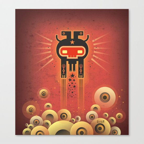 ELECTROCHAMAN Red face Canvas Print