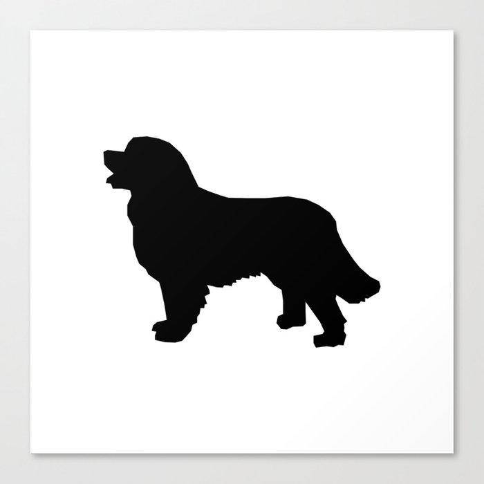 Bernese Mountain Dog Silhouette Black And White Minimal