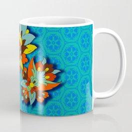 blue Persian pool and red lotus Coffee Mug
