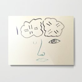 Stacey's Brain Metal Print