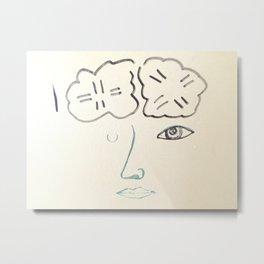 Stacey's Brain Metal Print