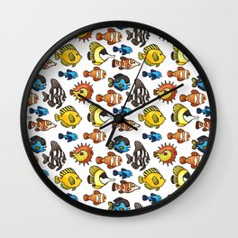 Tropical Fish Pattern Wall Clock