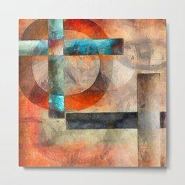 Crossroads Abstract Metal Print