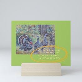 THANKSGIVING GREETINGS & WILD TURKEYS Mini Art Print
