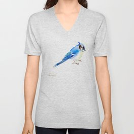 Blue Jay design. blue jay home decor Unisex V-Neck