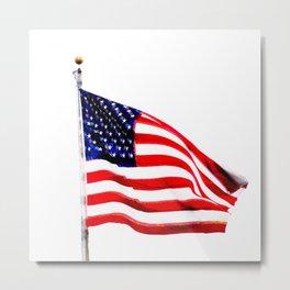 US Flag (Slightly Glitched) Metal Print