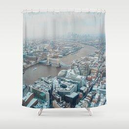 Snowy London Shower Curtain