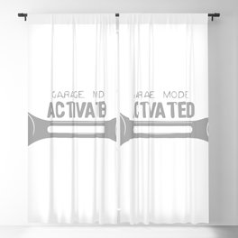 Garage Mode Activated Funny Mechanic Blackout Curtain