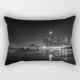 Detroit Skyline at night Rectangular Pillow