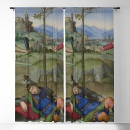 "Raffaello Sanzio da Urbino ""Vision of a Knight (The Dream of Scipio or Allegory)"", circa 1504-1505 Blackout Curtain"