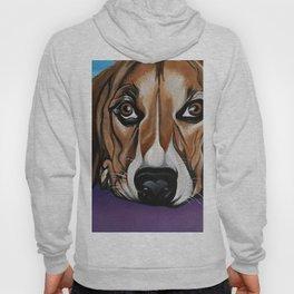 Dog, acrylic on canvas Hoody