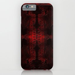 Snake Skin In Red iPhone Case