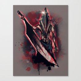 Red Pyramid Canvas Print