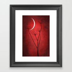 Red Is On Framed Art Print