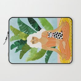 Meditation With Thy Cat #illustration #painting Laptop Sleeve