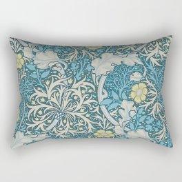 William Morris,art nouveau pattern, seaweed,blue,florals,vintage Rectangular Pillow