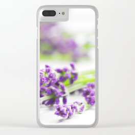 Lavender herb still life Clear iPhone Case