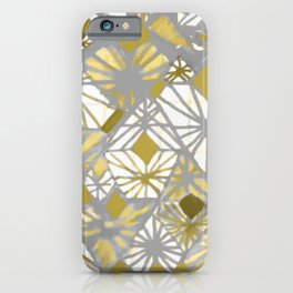 Oro y gris iPhone Case