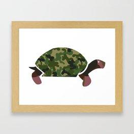 Camou Turtle Framed Art Print