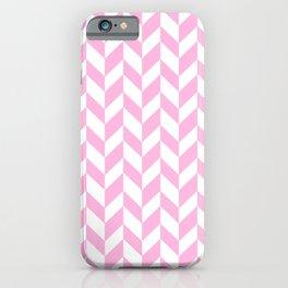 Herringbone (Pink & White Pattern) iPhone Case