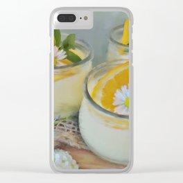 Orange Mint Clear iPhone Case