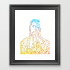 motif of a portrait II Framed Art Print