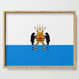 flag of novgorod Serving Tray