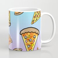 pizza Mugs featuring PIZZA by SteffiMetal