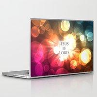 bible Laptop & iPad Skins featuring Jesus is Lord - Bible Lock Screens by Bible Lock Screens
