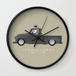 SCHNAUZERYE Wall Clock