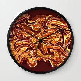 Abstract Fluid Golden Texture Wall Clock