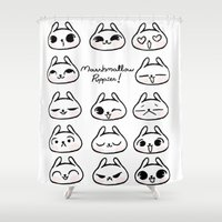 puppies Shower Curtains featuring Marshmallow Puppies! by Carina Soares