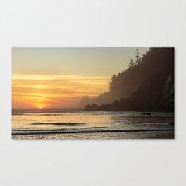 Last Light at Short Sand Beach, Oregon Canvas Print