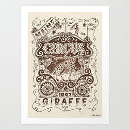 Maime the Giraffe #11 Art Print