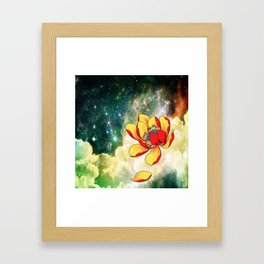 Galaxy Lotus Framed Art Print