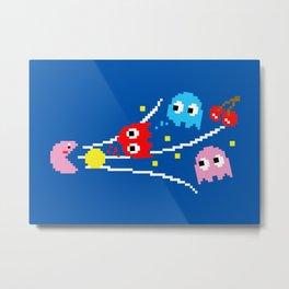 Pac-Kirby's Super Inhale Metal Print