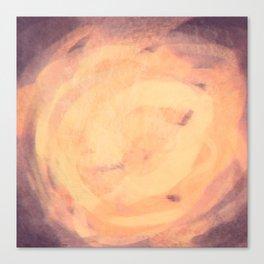 Purple and orange storm simple illustration Canvas Print