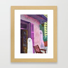 ghost house Framed Art Print