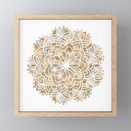 Mandala Multi Metallic in Gold Silver Bronze Copper Framed Mini Art Print
